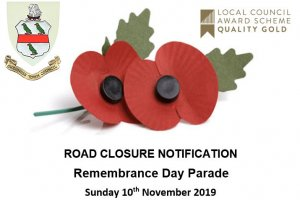 Road Closure Notification for Remembrance Parade